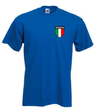 Invicta Italy Italia Italian Team Flag Crest Football Soccer Team Short Sleeve T Shirt Jersey