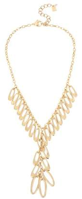 Robert Lee Morris Shaky Oval Link Fringe Y-Drop Necklace