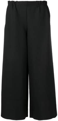 Issey Miyake cropped wide leg trousers