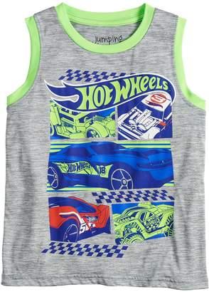 Hot Wheels Boys 4-12 Jumping Beans Graphic Tank