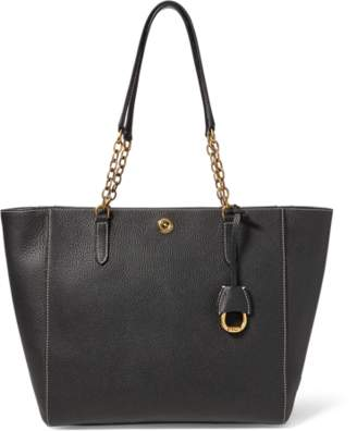 Ralph Lauren Chain-Link Leather Tote