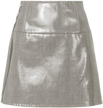 Helmut Lang Plaid Mini Skirt