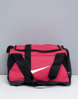 Nike Sports Bag In Pink With Swoosh