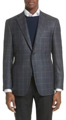 Canali Classic Fit Check Silk & Wool Sport Coat