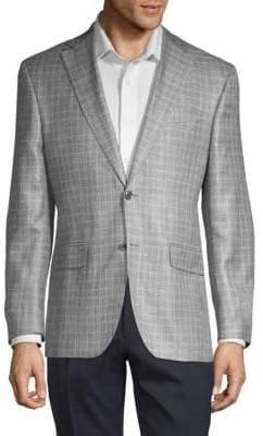 Jack Victor Plaid Wool Sport Jacket
