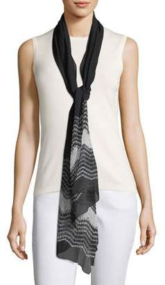 Eileen Fisher Textured Silk Shibori Scarf