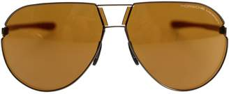 Porsche Design Aviator Sunglasses P8617 C With Brown Lens