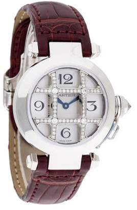Cartier Pasha De Sunburst Dial Watch