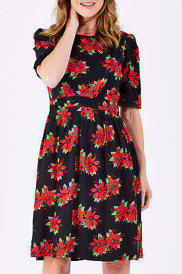 Emily And Fin NEW Womens Knee Length Dresses Heather Dress Poinsettia
