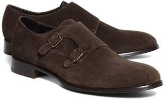 Brooks Brothers Suede Double Monk Strap Shoes