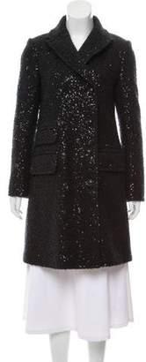 Diane von Furstenberg Mohair-Blend Double-Breasted Coat