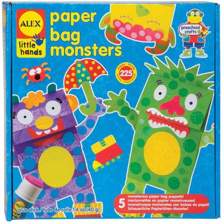 Crafts & Sewing ALEX Toys Little Hands Paper Bag Monsters Kit