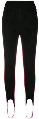 Calvin Klein ribbed stirrup leggings