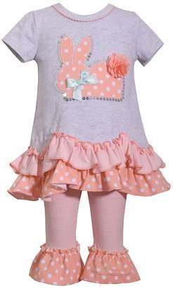 Bonnie Jean Easter Baby Girls' Appliqued Skirt Dress and Legging Set