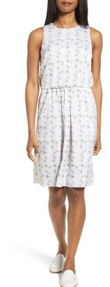 Women's Nordstrom Collection Sunburst Print Silk Blouson Dress $299 thestylecure.com