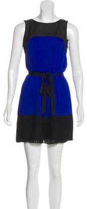 Ali Ro Silk Mini Pleated Dress w/ Tags