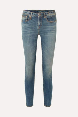 R 13 Alison Mid-rise Skinny Jeans - Blue