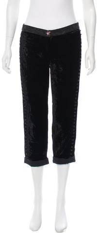 Dolce & GabbanaD&G Cropped Velvet Pants w/ Tags
