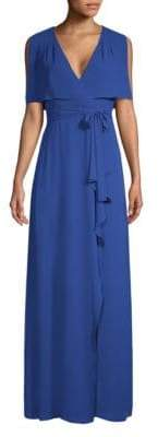 BCBGMAXAZRIA Sexy Wraparound Maxi Dress