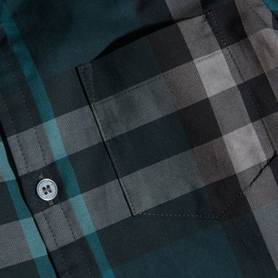Burberry Check Cotton Button-down Shirt 12