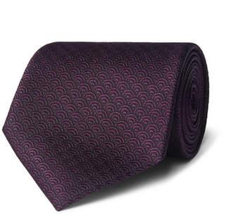 Ermenegildo Zegna 8cm Silk-Jacquard Tie - Men - Dark purple