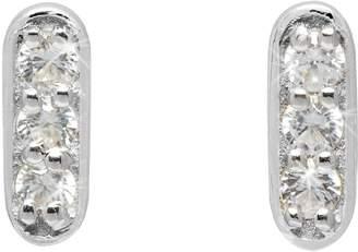 Lola Rose London - Curio Mini Bar Stud Earrings Natural White Zircon