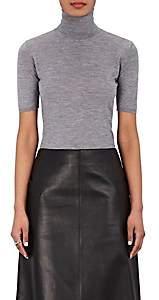 Barneys New York Women's Cashmere-Silk Short-Sleeve Sweater - Dark Gray