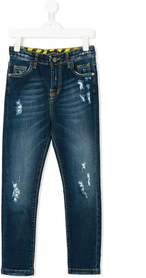 John Richmond Kids Schmale Distressed-Jeans