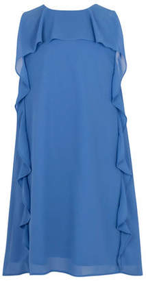 BCBGMAXAZRIA Sleeveless Cascade Ruffle Dress