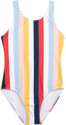 77eb716d3 Tucker + Tate Tie Back Stripe One-Piece Swimsuit