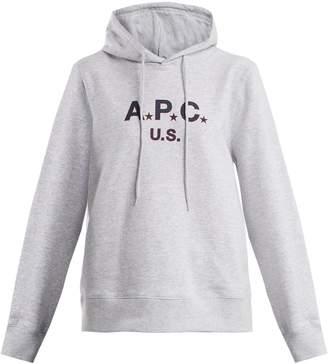 A.P.C. US Star Logo cotton-blend jersey hooded sweatshirt