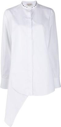 Alexander McQueen studded-collar asymmetric shirt