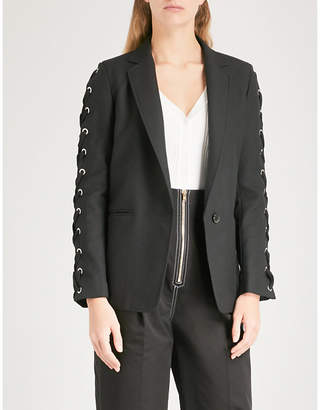 Sandro Lace-up detail woven jacket
