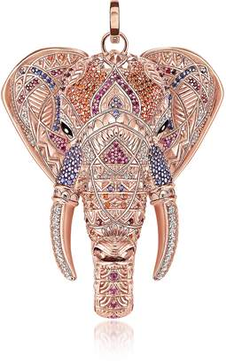 Thomas Sabo Rose Gold Plated Sterling Elephant Pendant w/Pink Zirconia