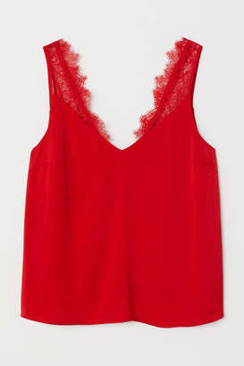 H&M Lace Top - Red