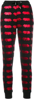 Zoe Karssen laminated bat print trousers
