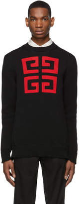 Givenchy Black and Red 4G Sweater
