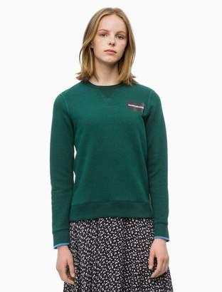 Calvin Klein logo block crewneck sweatshirt