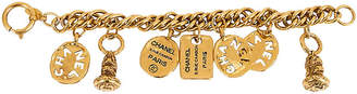 One Kings Lane Vintage '80s Chanel Seals & Coins Charm Bracelet - Vintage Lux