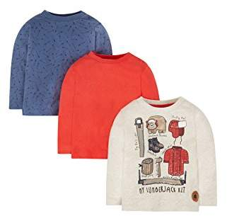 Mothercare Lumberjack T-Shirts - 3 Pack, Multi,(Manufacturer Size:110)