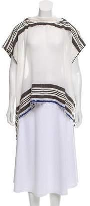 Lemlem Striped Hooded Poncho