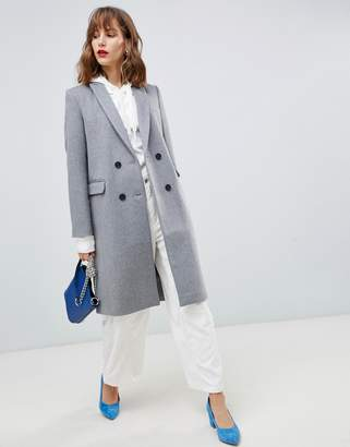Stradivarius double button longline coat
