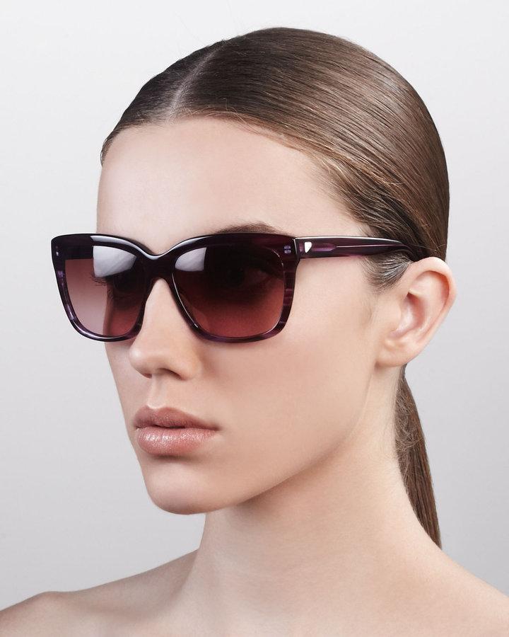 Barton Perreira Square Gradient Sunglasses, Heroine Chic