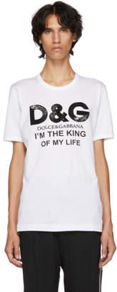 Dolce & Gabbana White King Of My Life T-Shirt