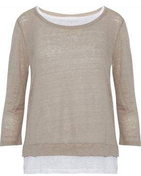 Majestic Filatures Layered Slub Linen Top