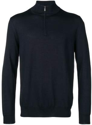 Canali zipped knit sweater