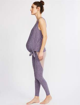 A Pea in the Pod Beyond The Bump Off Duty Fold Over Belly Maternity Leggings