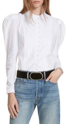 Frame Puff Shoulder Blouse
