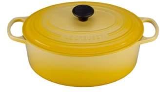 Le Creuset (ル クルーゼ) - LE CREUSET Signature 6 3/4 Quart Oval Enamel Cast Iron French/Dutch Oven