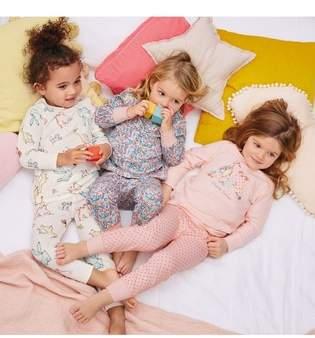 Next Girls Pink Farm Animal Character Snuggle Pyjamas Three Pack (9mths-8yrs)